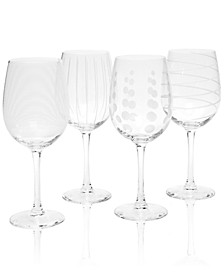 Glassware, Set of 4 Cheers White Wine Glasses