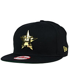 New Era Houston Astros League O'Gold 9FIFTY Snapback Cap