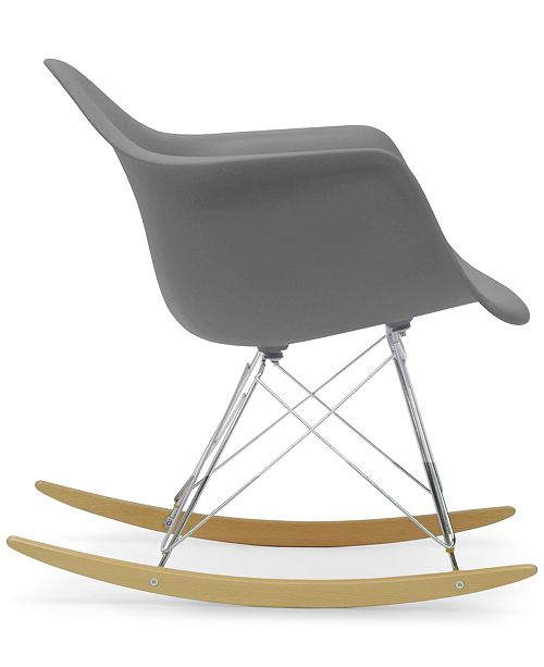 Furniture Caden Mid-Century Modern Rocking Chair, Quick