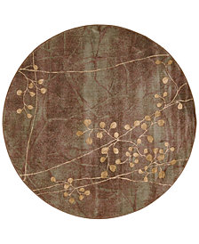 "CLOSEOUT! Nourison Somerset Multi Blossom 5'6"" Round Rug"