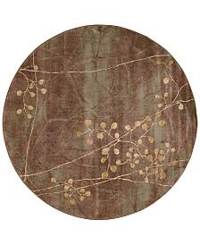 "CLOSEOUT! Nourison Somerset Multi Blossom 5'6"" Round Rug"