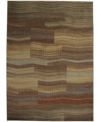 "CLOSEOUT! Somerset Pathway Aqua 3'6"" x 5'6"" Area Rug"