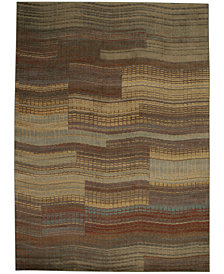 CLOSEOUT! Nourison Somerset Pathway Aqua Area Rugs