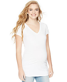 Motherhood Maternity V-Neck Ruched Tee