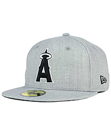 New Era Los Angeles Angels of Anaheim Heather Black White 59FIFTY Fitted Cap