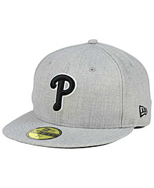 New Era Philadelphia Phillies Heather Black White 59FIFTY Fitted Cap
