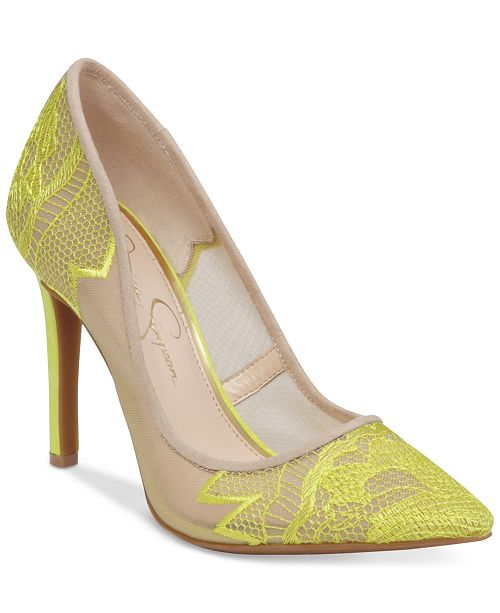 d06193da541 Jessica Simpson Camba Lace Pointed-Toe Pumps & Reviews - Pumps ...