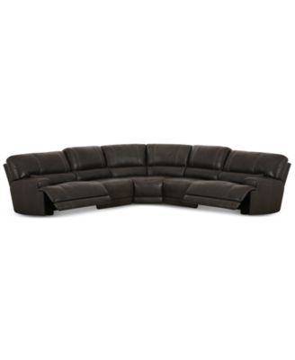 CLOSEOUT! Warrin 5-pc Leather Sectional Sofa with 2 Power Recliners