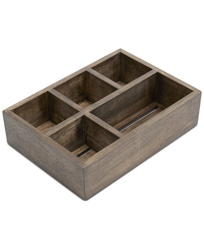 paradigm bath accessories driftwood organizer bathroom