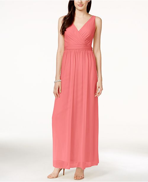 Adrianna Papell Adrianna By Chiffon Draped Sleeveless Gown