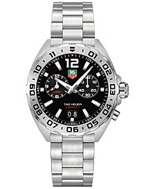 Men's Swiss Chronograph Formula 1 Stainless Steel Bracelet Watch 41mm