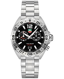 TAG Heuer Men's Swiss Chronograph Formula 1 Stainless Steel Bracelet Watch 41mm