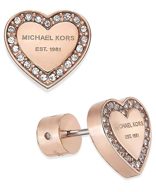 f8171d516e66 Michael Kors Crystal Heart Stud Earrings   Reviews - Fashion Jewelry ...