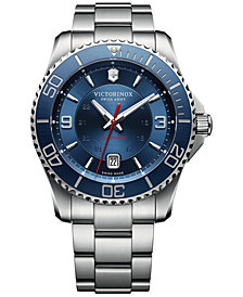 Victorinox Swiss Army Men's Swiss Maverick Stainless Steel Bracelet Watch 43mm 241706