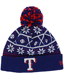 New Era Texas Rangers Sweater Chill Pom Knit Hat