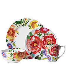 Kim Parker 16-Pc. Zinnia Dinnerware Set, Service for 4, Created for Macy's