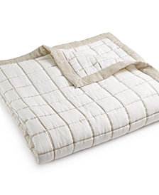 Hotel Collection Waffle Weave Full/Queen Coverlet, Created for Macy's
