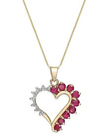 Ruby necklaces macys aloadofball Image collections