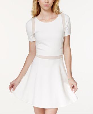 Xoxo dress sleeveless knit illusion maxi