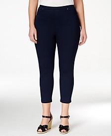 Plus Size Pull-On Capri Leggings, Created for Macy's