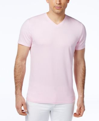 Image of Alfani Men's Stretch Slim Fit V-Neck T-Shirt, Only at Macy's