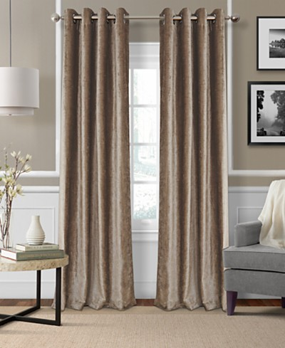 Elrene Victoria Velvet Room Darkening Thermal Window Treatment Collection