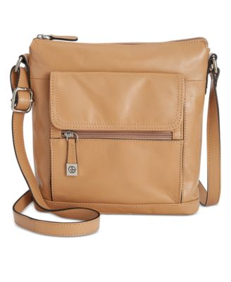 Image of Giani Bernini Florentine Glazed Leather Venice Crossbody, Only at Macy's