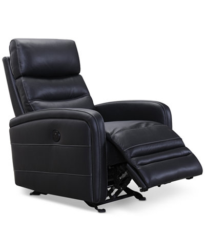 CLOSEOUT! Jensen Leather Power Recliner with USB Power Outlet