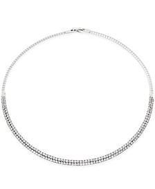"INC 16"" Crystal Collar Necklace, Created for Macy's"