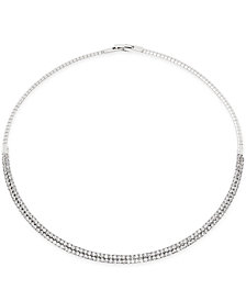 "I.N.C. 16"" Crystal Collar Necklace, Created for Macy's"