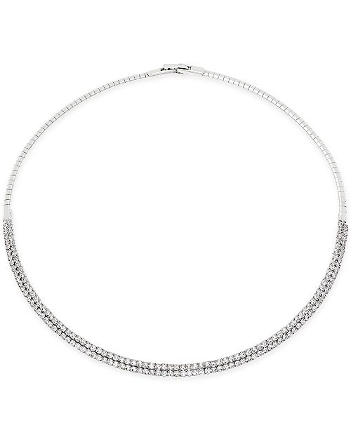 """INC International Concepts I.N.C. 16"""" Crystal Collar Necklace, Created for Macy's"""