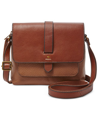 Fossil Kinley Leather Small Crossbody Handbags