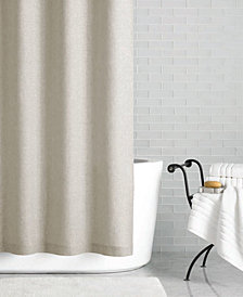 "CLOSEOUT! Hotel Collection Linen 72"" x 84"" Extra Long Shower Curtain, Created for Macy's"