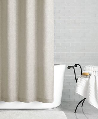 "hotel collection linen 72"" x 84"" extra long shower curtain"