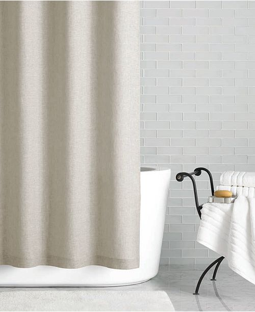 Product Details Go Natural This Light Linen Shower Curtain
