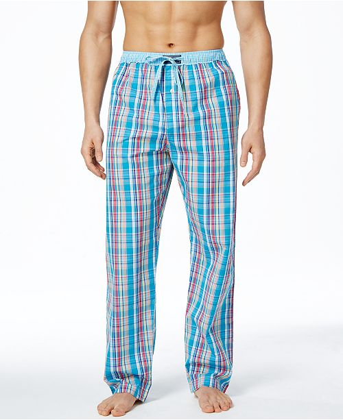 20e9e5f855 Polo Ralph Lauren Men s Bahama Plaid Woven Pajama Pants - Pajamas ...