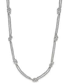 Lauren Ralph Lauren Silver-Tone Knot Necklace