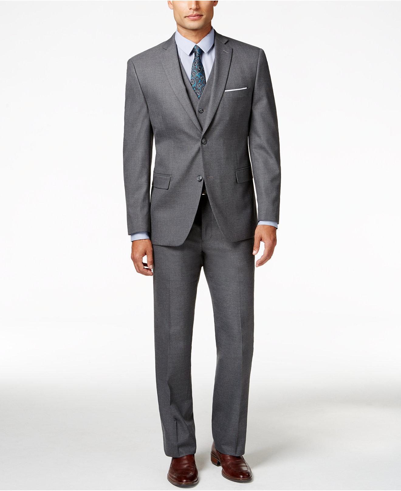 Alfani Men's Traveler Grey Solid Slimfit Suit Separates, Created For Macy's