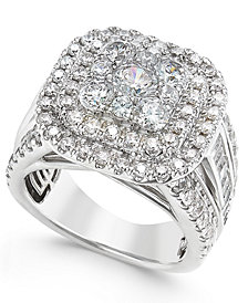 Diamond Ring (3 ct. t.w.) in 14k White Gold