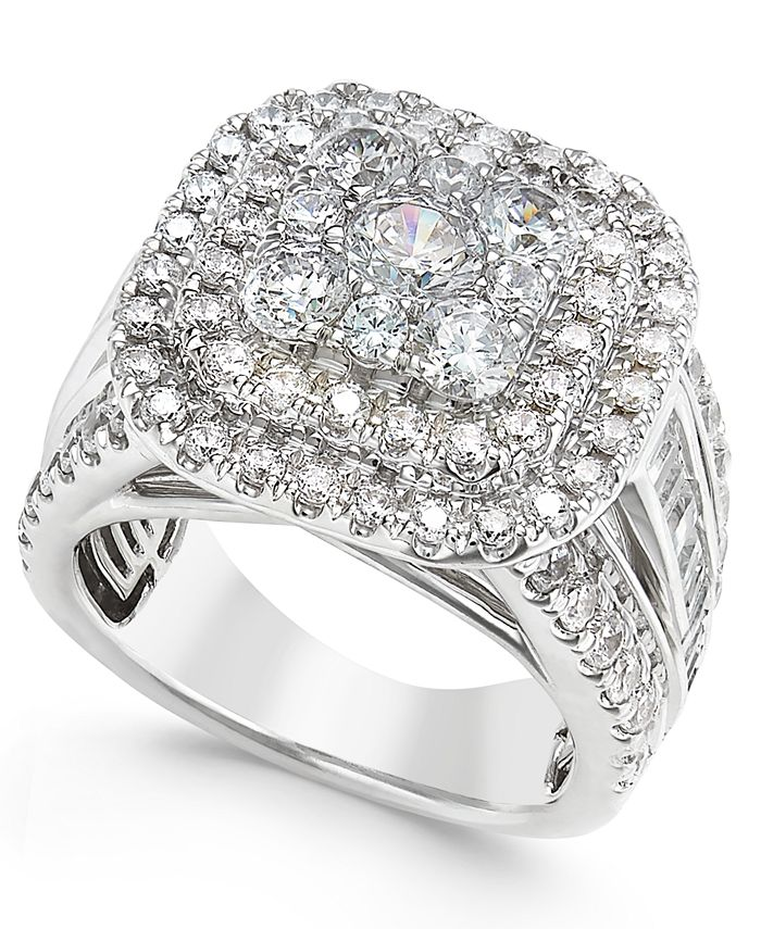 Macy's - Diamond Ring (3 ct. t.w.) in 14k White Gold