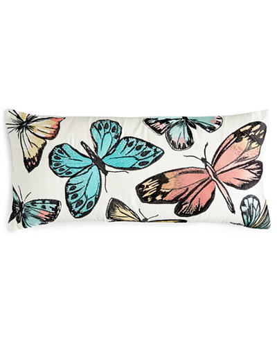 Closeout! Home Design Studio Beaded Butterfly Pillow, Only at