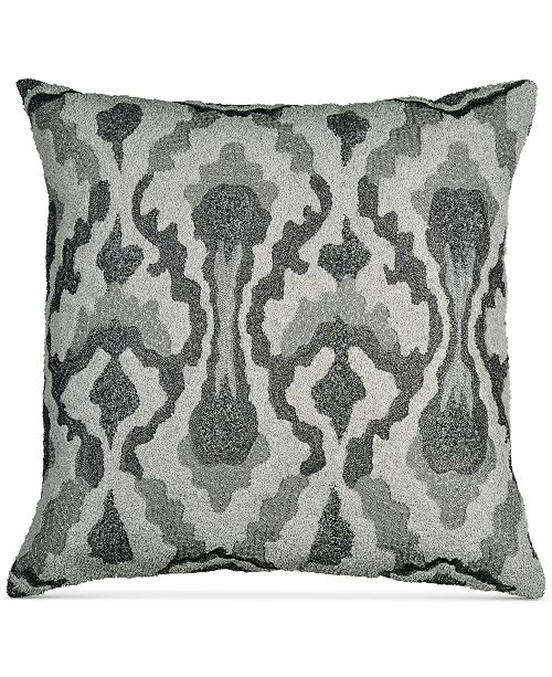 "Donna Karan Home Exhale 18"" Square Embroidered Decorative Pillow"