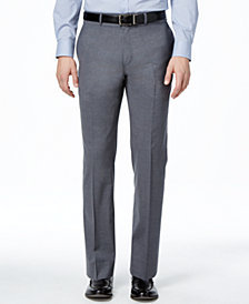 Lauren Ralph Lauren Medium Gray Solid Total Stretch Slim-Fit Pants
