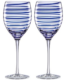 kate spade new york Charlotte Street Collection 2-Pc. Wine Glasses Set
