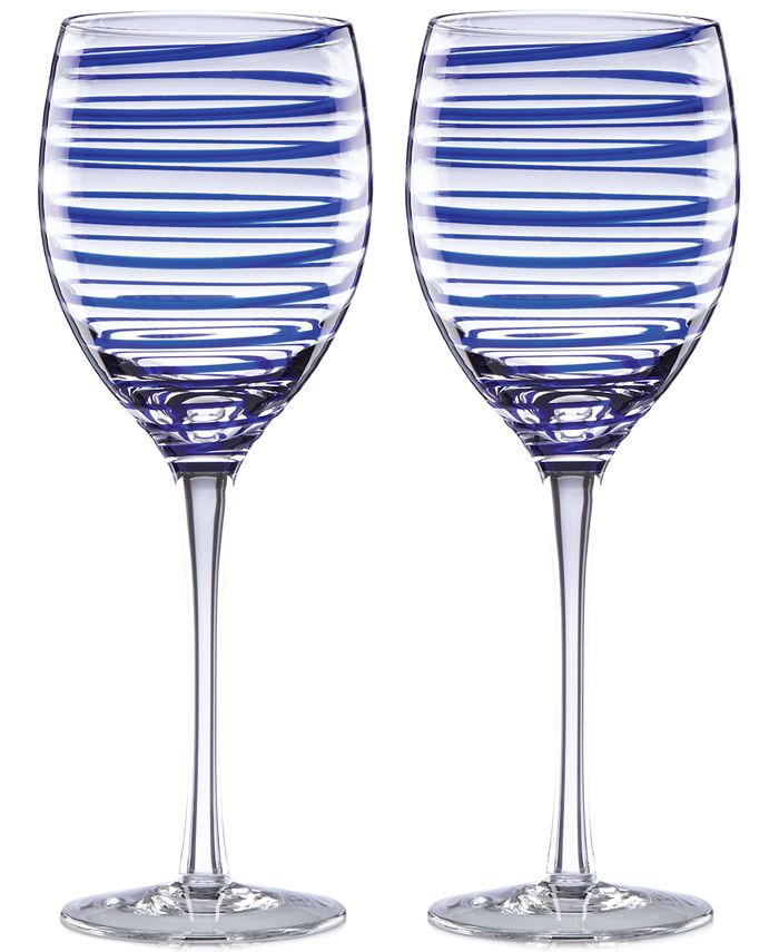 kate spade new york - Charlotte Street Collection 2-Pc. Wine Glasses Set