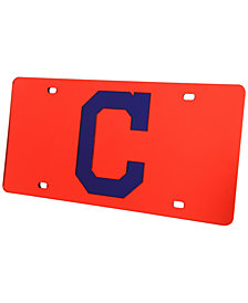 Rico Industries Cleveland Indians Acrylic Laser Tag License Plate Cover