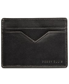 Perry Ellis Portfolio Men's Leather Card Case