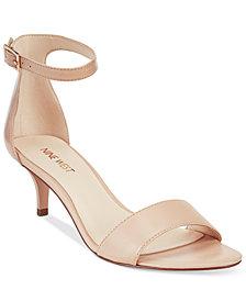 Nine West Leisa Two-Piece Kitten Heel Sandals
