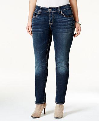 Silver Jeans Trendy Plus Size Suki Straight-Leg Jeans - Jeans ...