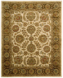 CLOSEOUT! Nourison Rajah Celina Ivory/Brown Area Rugs